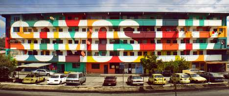 Facade Graffiti Facelifts - Boa Mistura Revamped an Old Building with a Community Mural Project