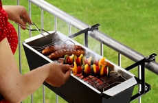 Convenient Condo Cookers - The Bruce Handrail Grill is Perfect for Urban Balconies and Apartments