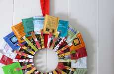 DIY Tea Tag Wreaths - This 'Around the World' Decor Will Showcase a Variety of Brewing Flavors