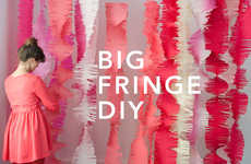 DIY Fringed Decor - Decorate Parties In Unconventional Garland with this 'Oh Happy Day' Tutorial