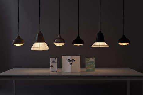 Lantern-Like Pendant Lamps