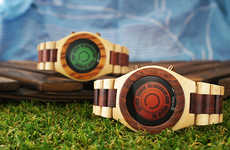 Illuminated Wooden Watches - Tokyoflash Japan's Kisai LCD Watches are Futuristic Works of Wooden Art