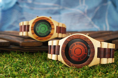 Illuminated Wooden Watches