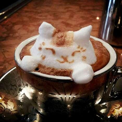 Adorable 3D Latte Art