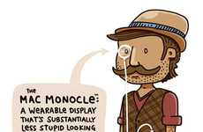Augmented Reality Monocles - The Mac Monocle from Artist Lunch Breath is Hilarious