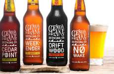 Cottagey Brew Branding - Geneva Lake Beer Packaging Takes its Inspiration from Cottage Country