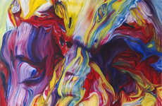 Surreal Swirled Stream Paintings - 'They Shoot Horses Don't They' is a Series of Stunning Art