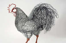 Mesh Metal Avian Art