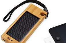 Bamboo Solar Smartphone Chargers - The iSolar Charges Your Cellphone Anywhere You Go