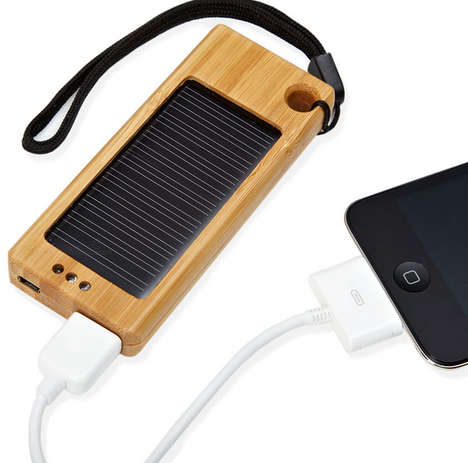 Bamboo Solar Smartphone Chargers