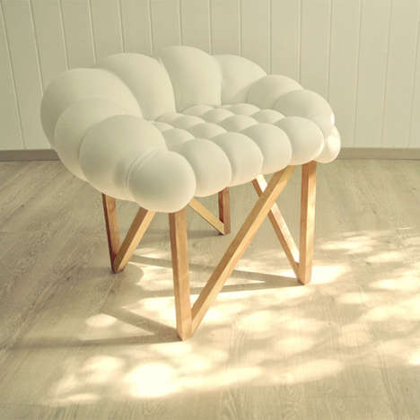 Tufted Cloud Seating - Snöbär Chair by Nebojsa Gornjak and Natasa Vukosavljevic