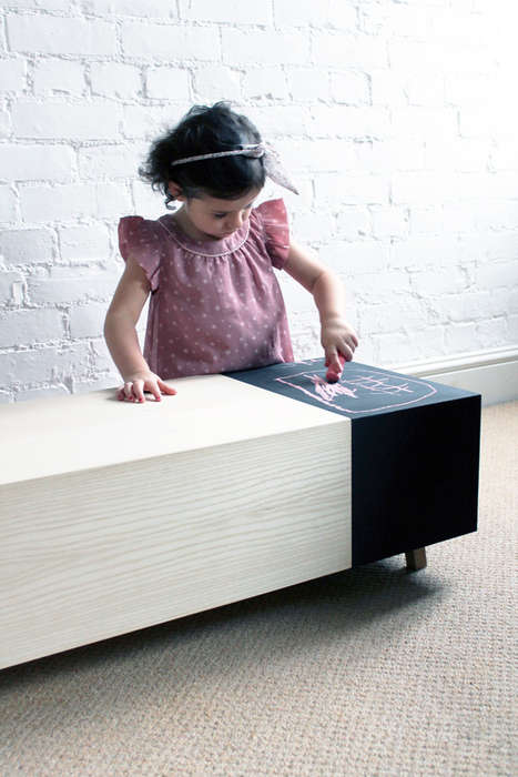 Sophisticated Chalkboard Furniture - The Matchbox Table Will Appeal to Children and Adults