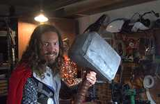 Electrifying Costume Accessories - Thor's Hammer is Brought to Life by Caleb Kraft