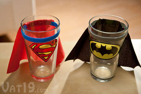 Caped Crusader Shot Glasses