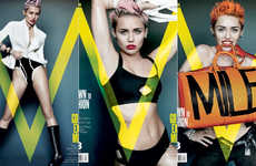 Racy Teen Star Photography - V Magazine's Photo Shoot with Miley Cyrus Matures Her Significantly