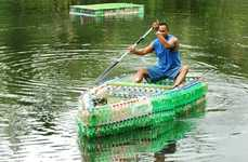 Recycled Pop Bottle Boats