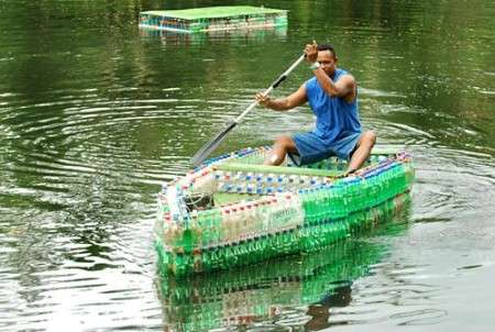 This Buoyant Creation is Made From 600 Plastic Bottles