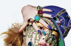 Haute Harajuku Portraiture - The Beauty And The Bling V Magazine Editorial Exudes Opulence