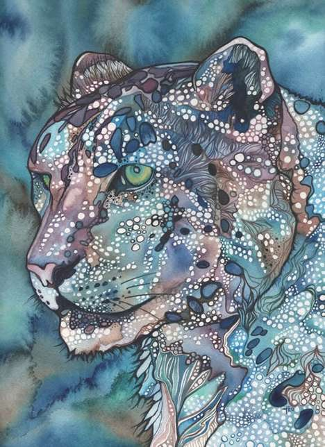 Bubble-Infused Animal Artworks