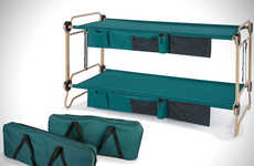Adult Fold-Up Bunk Beds - The 'Foldaway Adult Bunk Bed' Will Improve Comfort for Campers