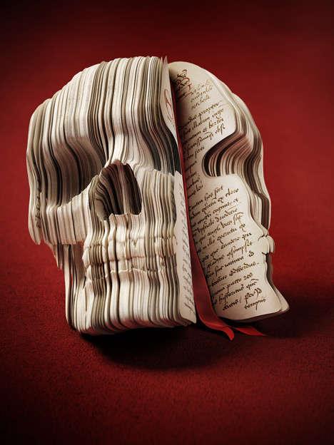 Skull-Carved Books