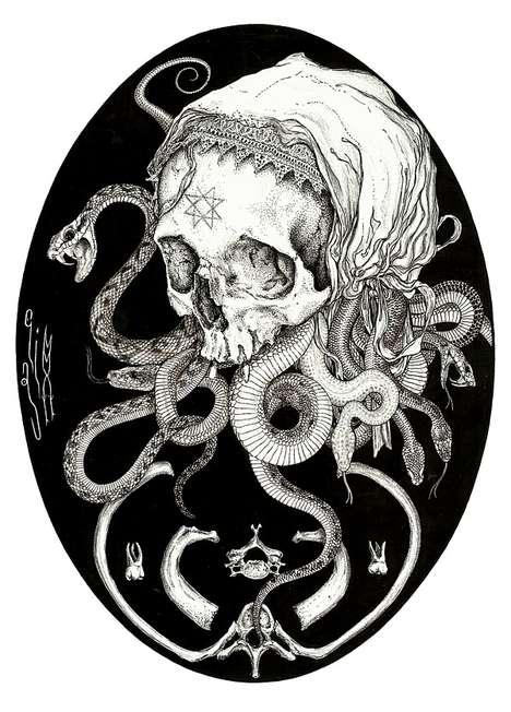 Morbid Tattoo-Inspired Artworks