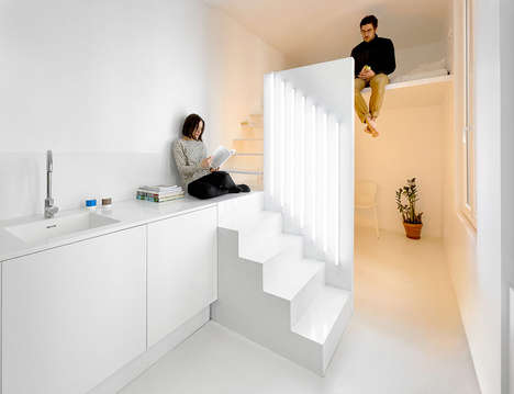 Compact Parisian Studios - The Tight Appartement Spectral Was Designed by Betillon and Dorval-Bory