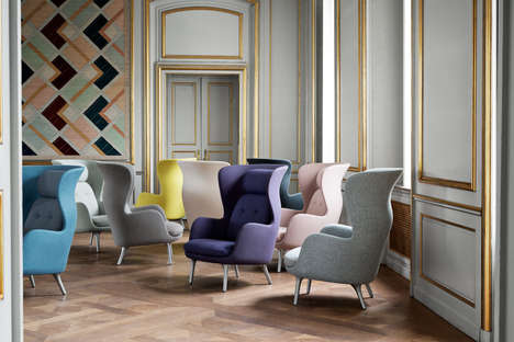 Modernized Wing Back Armchairs