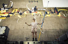 Vast Abstract Ballerina Murals - Anthony Lister's Ballerina Mural Imparts Vigor and Emotion