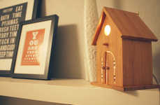 Bamboo Birdhouse Lamps - 'Baby Birdhouse Lamps' from Modern Treetop are Soothing for All Ages