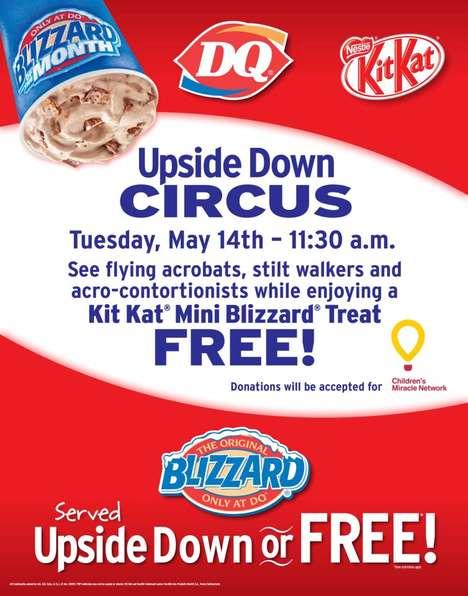 Upside-Down Ice Cream Campaigns