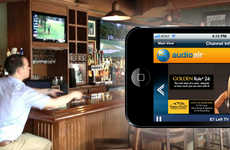 Audio-Streaming Sports Bar Apps - The Audioair App Adds Sound to Silenced TVs