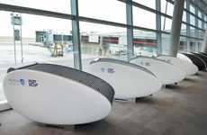Covered Airport Pods - Abu Dhabi Airport's Sleeping Pods Will Have You Relaxing Like a Baby