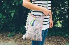 Repurposed Placemat Purses - This 'Henry Happened' DIY Tote Has a Hippy Feel to It