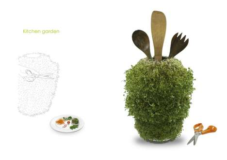 Sprouting Kitchen Utensil Canisters