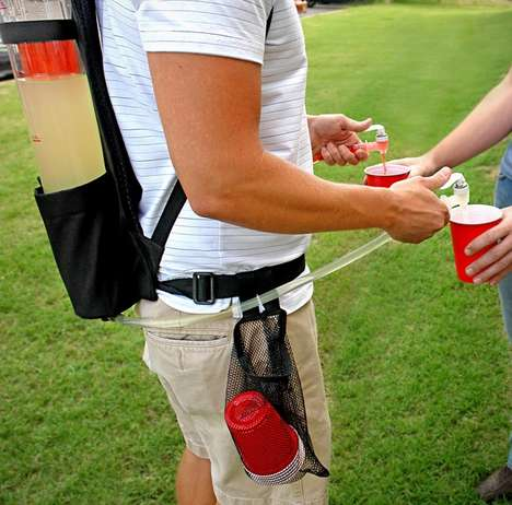 Backpack Drink Dispensers - This Dual Tank Booze Knapsack Will Make You a Hero at Tailgate Parties