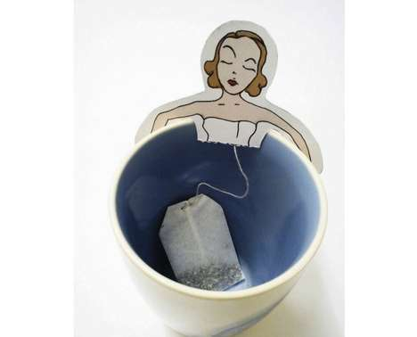 Miniature Hottub Teabags (UPDATE) - The Mnum Tea Bag from WDARU is Adorable and Clever
