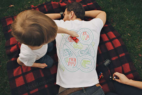 Interactive Playtime Tees - The Car Play Mat T-Shirt by Bky Kids Allows for Play When Dad is Napping