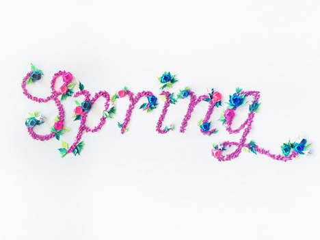 Vibrant Seasonal Typography