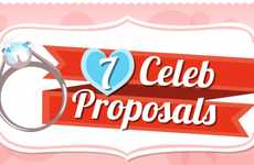 Celebrity Proposal Comparison Charts - Find Out the Goods on Celeb Weddings with This Infographic