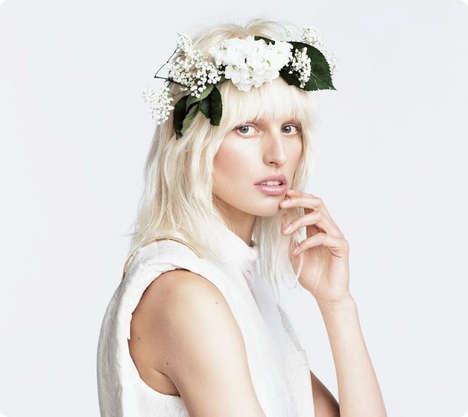 Minimalist Floral-Accented Editorials