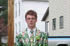 Upcyled Soda Drink Suits - This Mountain Dew Shirt is Made for Parties
