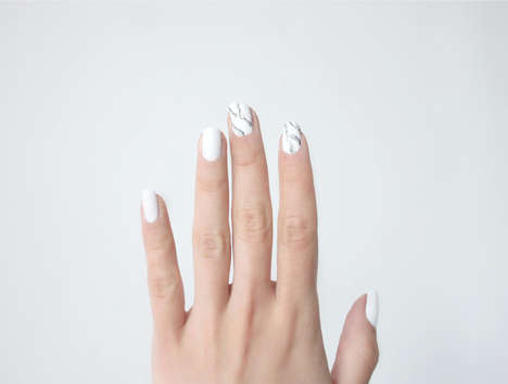 DIY Marble Manicures