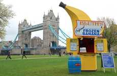 Faux Family Business Booths - The Bluth Banana Stand Appears in London to Market the Shows Return