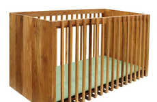 Desk-Transforming Cribs - Nurseryworks' 'District Crib' Transforms Into a Full-Size Desk