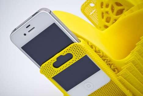 Sleek Phone-Holding Shoes