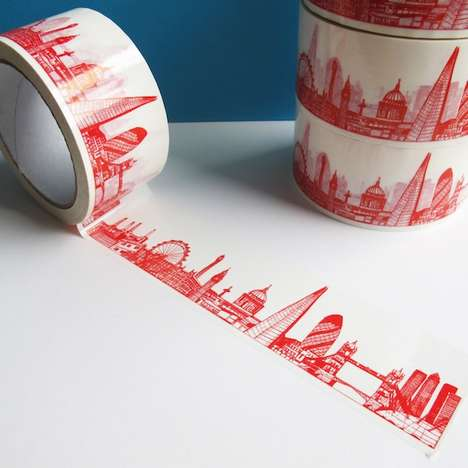 Sticky Skyscraper Adhesive - This Sticky Tape from Cecily Vessey Features Skylines of Hip Cities