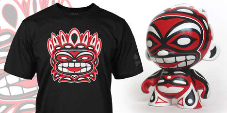 Totem Toy-Integrated Apparel - The 'Brand New Intention' Collection Shows Art by Reactor-88