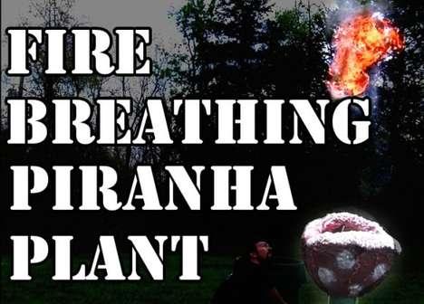 DIY Flame-Throwing Flowers