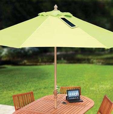 Phone-Charging Solar Umbrellas